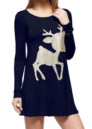 Baby Rudolph Glittered Long Sleeve Tunic Tunics- Niobe Clothing