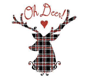 Oh Deer! Christmas Holiday Graphic T-Shirt Shirts- Niobe Clothing