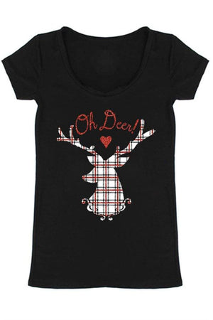 Oh Deer! Christmas Holiday Graphic T-Shirt - Niobe Clothing - 1
