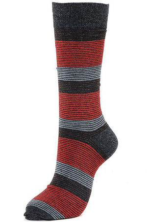 Thin Stripes Cotton Blend Dress Socks (6pk) Socks- Niobe Clothing