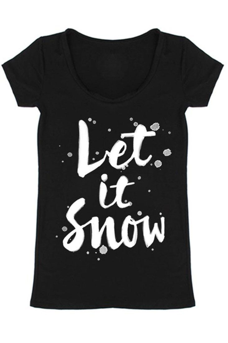 Let It Snow Holiday Graphic T-Shirt Shirts- Niobe Clothing