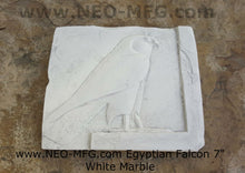 "Load image into Gallery viewer, History Egyptian Falcon Stela Fragment Sculptural wall relief plaque www.Neo-Mfg.com 7"" museum reproduction"