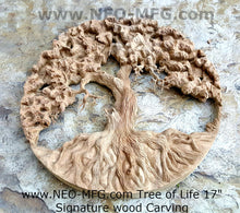 "Load image into Gallery viewer, Nature Tree of Life Carve wall Art Sculpture Frieze Plaque Home decor 17"" www.neo-mfg.com"