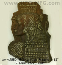 Load image into Gallery viewer, History Egyptian Isis Nekhbet Stela Fragment Sculptural wall relief plaque www.Neo-Mfg.com 12""