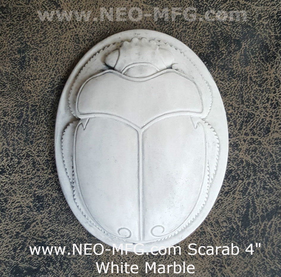 History Egyptian Scarab Sculptural relief www.Neo-Mfg.com 4""