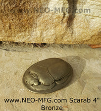 Load image into Gallery viewer, History Egyptian Scarab Sculptural relief www.Neo-Mfg.com 4""