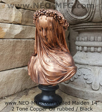 "Load image into Gallery viewer, Museum Replica Italian Bride Maiden Statue Sculpture Bust Inspired By Artist Raphael Monti 14"" www.NEO-MFG.com"