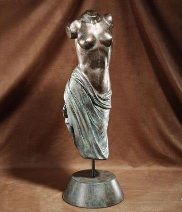 "Roman Greek Bronze Patina Nude Lady Fragment Statue 22""  www.Neo-Mfg.com"