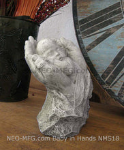 Load image into Gallery viewer, Baby sleeping in Fathers hands sculpture statue  www.Neo-Mfg.mfg 8""