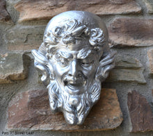 Load image into Gallery viewer, Pan Gargoyle Satyr Faun wall Mephistopheles corbel keystone Grotesque goblin sculpture www.NEO-MFG.com 7""