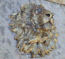 "Load image into Gallery viewer, African lion wall Sculpture plaque 18"" www.Neo-Mfg.com Grand size"