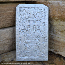 "Load image into Gallery viewer, History Aztec Mayan sarcophagus of king K'inich Janaab' Pakal wall plaque art 8.5"" www.Neo-Mfg.com"