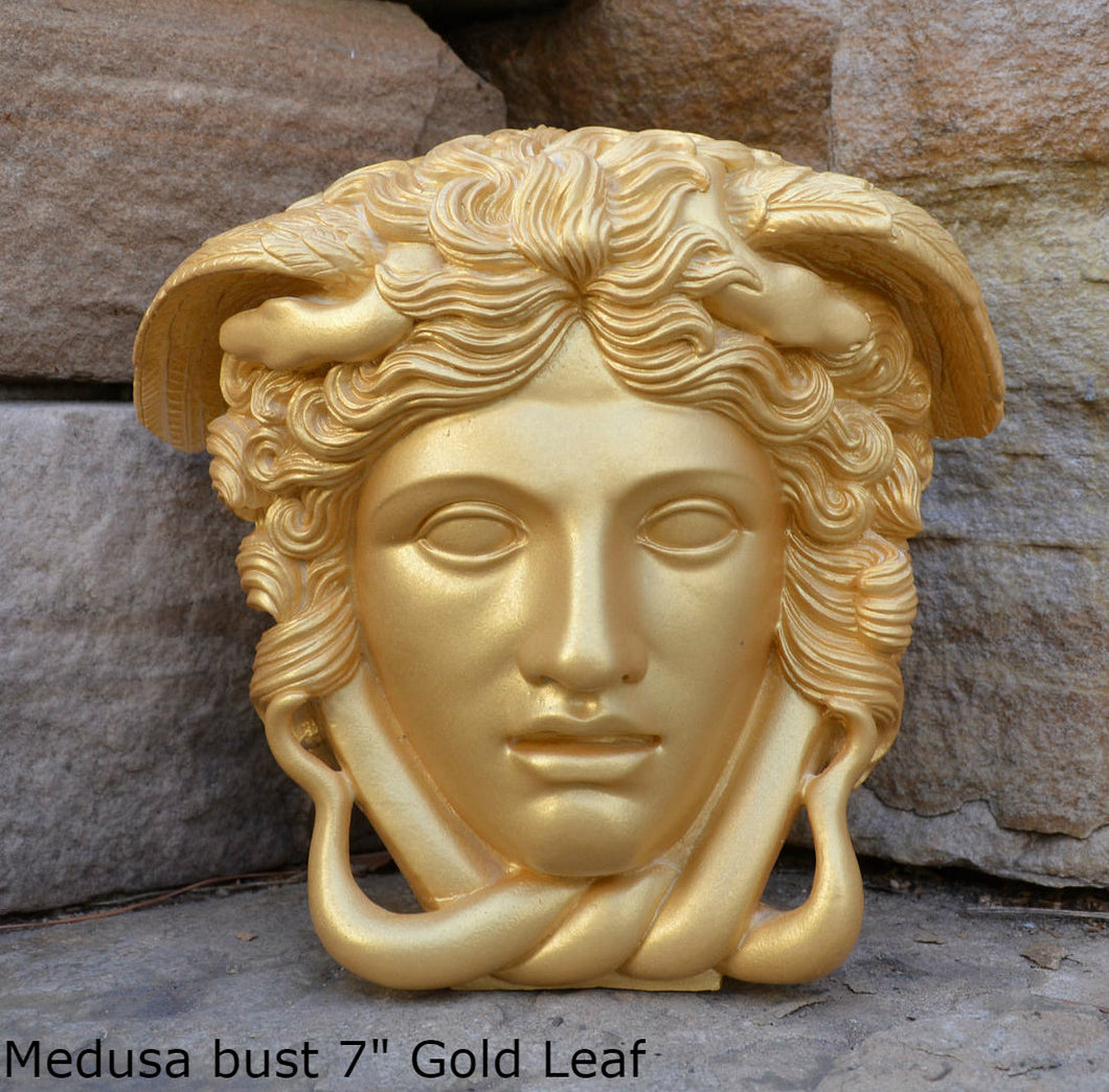 "History Medusa Versace Rondanini Bust design Artifact Carved Sculpture Statue 7"" www.Neo-Mfg.com"