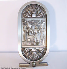 "Load image into Gallery viewer, Egyptian Cartouche shenu Artifact Carved Sculpture Statue  8"" ww.Neo-Mfg.com Home decor"