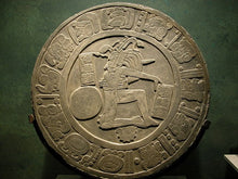 Load image into Gallery viewer, History Aztec Maya Mesoamerica Ball player disc  Chinkultic plaque wall Sculpture Statue www.Neo-Mfg.com 12""