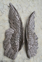 "Load image into Gallery viewer, Angel Wings Aged wall sculpture statue plaque www.Neo-Mfg.com 27"" Large"