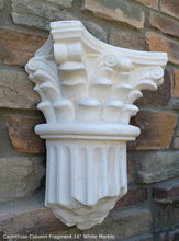 "Load image into Gallery viewer, Roman Greek Wall Corinthian Column plaque Fragment relief www.Neo-Mfg.com 16"" each"