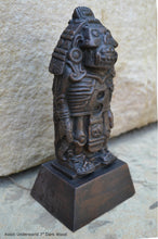 "Load image into Gallery viewer, Aztec Mayan Xolotl Underworld  ancient replica Sculpture www.Neo-Mfg.com 7"" museum Reproduction"