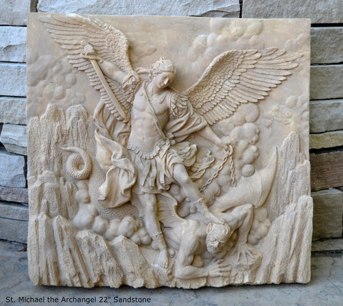 Historical religious Mythological St. Michael the Archangel wall angel Sculpture www.Neo-mfg.com