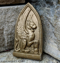 "Load image into Gallery viewer, Griffin gryphon Winged lion wall Sculpture plaque 5"" www.Neo-Mfg.com Home decor mystical"