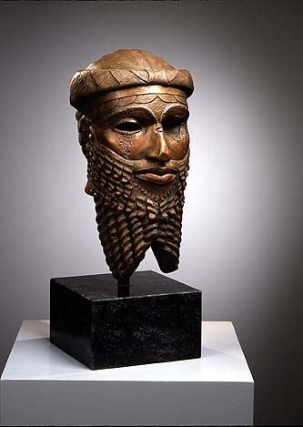 Historical Assyrian Persian King Sargon Persepolis relief sculpture ancient replica Sculpture www.Neo-Mfg.com