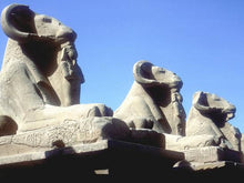 "Load image into Gallery viewer, Egyptian Sphinx Ram-Headed Temple Amun Karnak Carving sculpture statue 5"" www.Neo-Mfg.com"