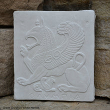 "Load image into Gallery viewer, Roman Greek gryphon Sculpture wall plaque www.Neo-Mfg.com 5"" home decor"