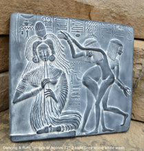 "Load image into Gallery viewer, History Egyptian Dancing & flute Tombes of Nobles Plaque Artifact  Sculpture 12"" www.Neo-Mfg.com home decor"
