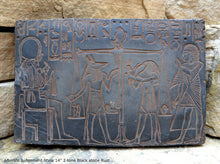 "Load image into Gallery viewer, History Egyptian Afterlife Judgement Stela Plaque Artifact  Sculpture 14"" www.Neo-Mfg.com home decor"