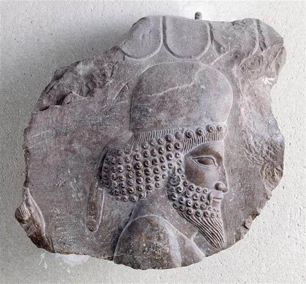"Assyrian Relief head of a Mede nobleman Persian Persepolis wall plaque art Sculpture 10"" www.Neo-Mfg.com Museum reproduction"