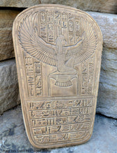 "Load image into Gallery viewer, History Egyptian Maat Isis Stela Plaque Coffin Artifact  Sculpture 11"" www.Neo-Mfg.com home decor e30"