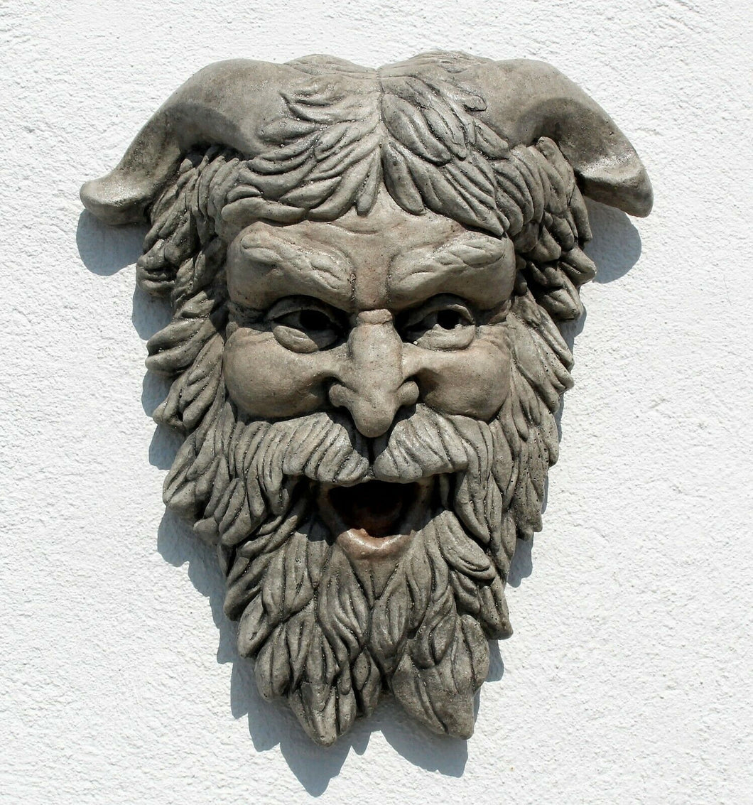 "Celtic Cernunnos, Horned Deity Greenman bust  Sculpture 16"" www.Neo-Mfg.com home decor"