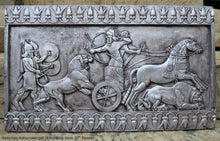 "Load image into Gallery viewer, Assyrian Ashurnasirpal II hunting lions Carving sculpture wall plaque 27"" www.Neo-Mfg.com"