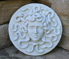 "Load image into Gallery viewer, Roman Greek Medusa Sculptural wall relief plaque www.Neo-Mfg.com 8.5"" Museum reproduction"