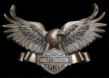 Load image into Gallery viewer, Harley Davidson Vintage Eagle logo wall plaque 10""