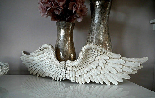 "Angel Wings wall sculpture statue plaque www.Neo-Mfg.com 8.5"" Each Sold as pair wall decor"