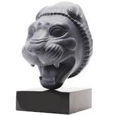 "Assyrian Persian Persepolis Lion of Gilgamesh head capital Sculpture statue 4"" www.Neo-Mfg.com Museum reproduction"