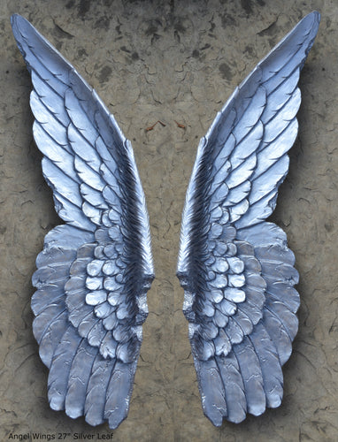 "Angel Wings Aged wall sculpture statue plaque www.Neo-Mfg.com 27"" Large"