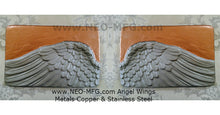 Load image into Gallery viewer, Angel Wings 2pc wall sculpture statue plaque www.Neo-Mfg.com Memorial