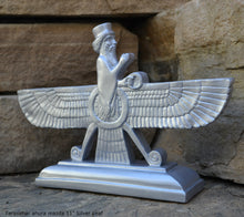 "Load image into Gallery viewer, Assyrian Faravahar ahura mazda Persian Persepolis art Sculpture relief 11"" www.Neo-Mfg.com"