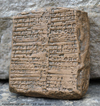 Load image into Gallery viewer, Mesopotamia land contract Tablet Cuneiform Sculptural www.Neo-Mfg.com museum reproduction 3 3/8""""