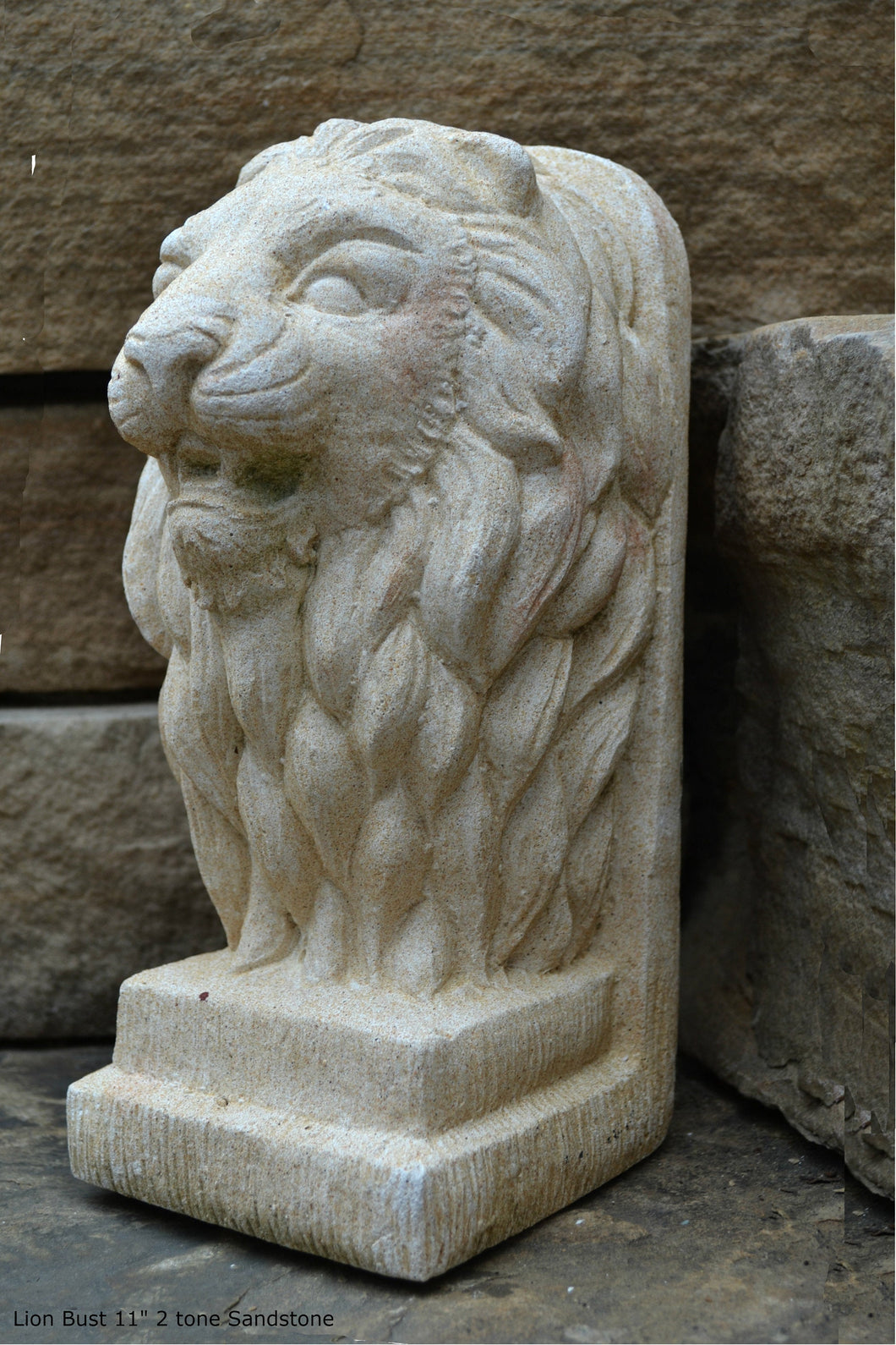 Lion Bust Crete sculpture art www.Neo-Mfg.com home decor 11""