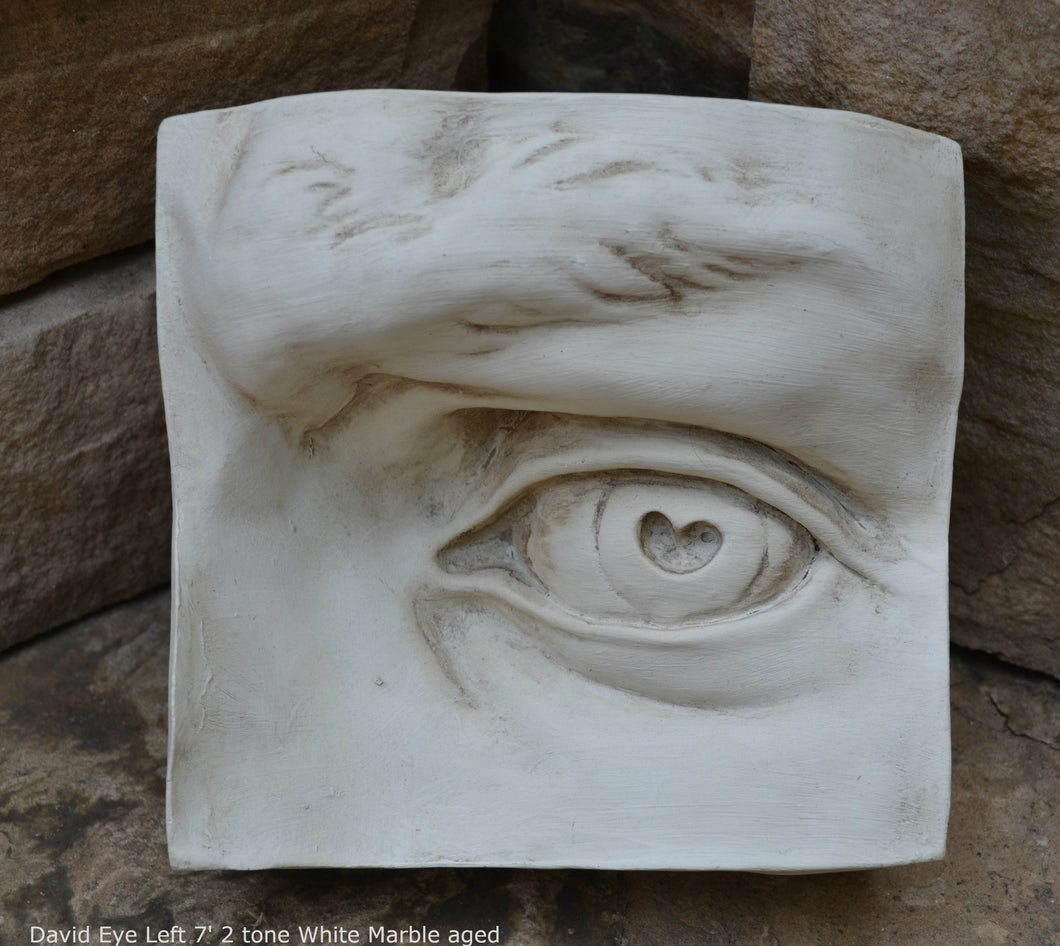 Roman Michelangelo large David Eye, Nose or mouth face Plaque Sculpture  www.Neo-Mfg.com museum reproduction Brucciani sold as EACH