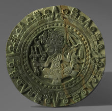 "Load image into Gallery viewer, History MAYAN AZTEC warrior sculptural wall relief plaque 15.5"" www.neo-mfg.com"