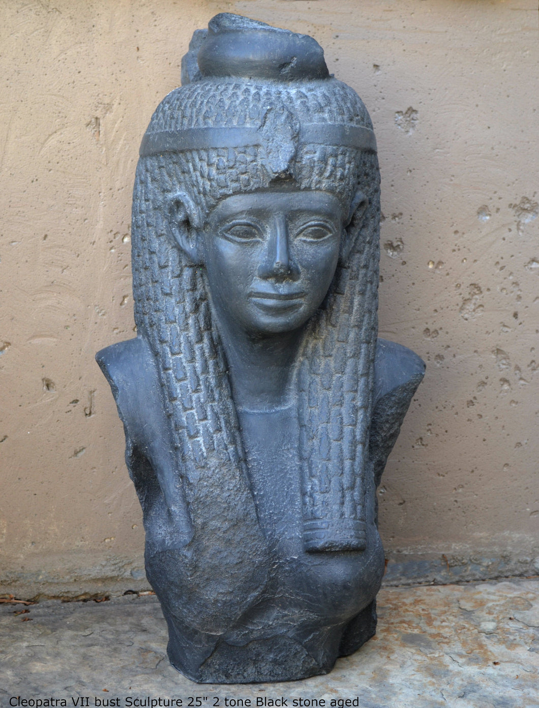 "History Egyptian Cleopatra VII bust Sculpture 25"" www.Neo-Mfg.com home decor statue Museum Reproduction"