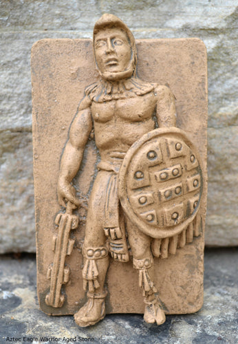 Aztec Mayan Eagle Warrior Cuauhpilli relief sculpture wall plaque www.Neo-Mfg.com 5""