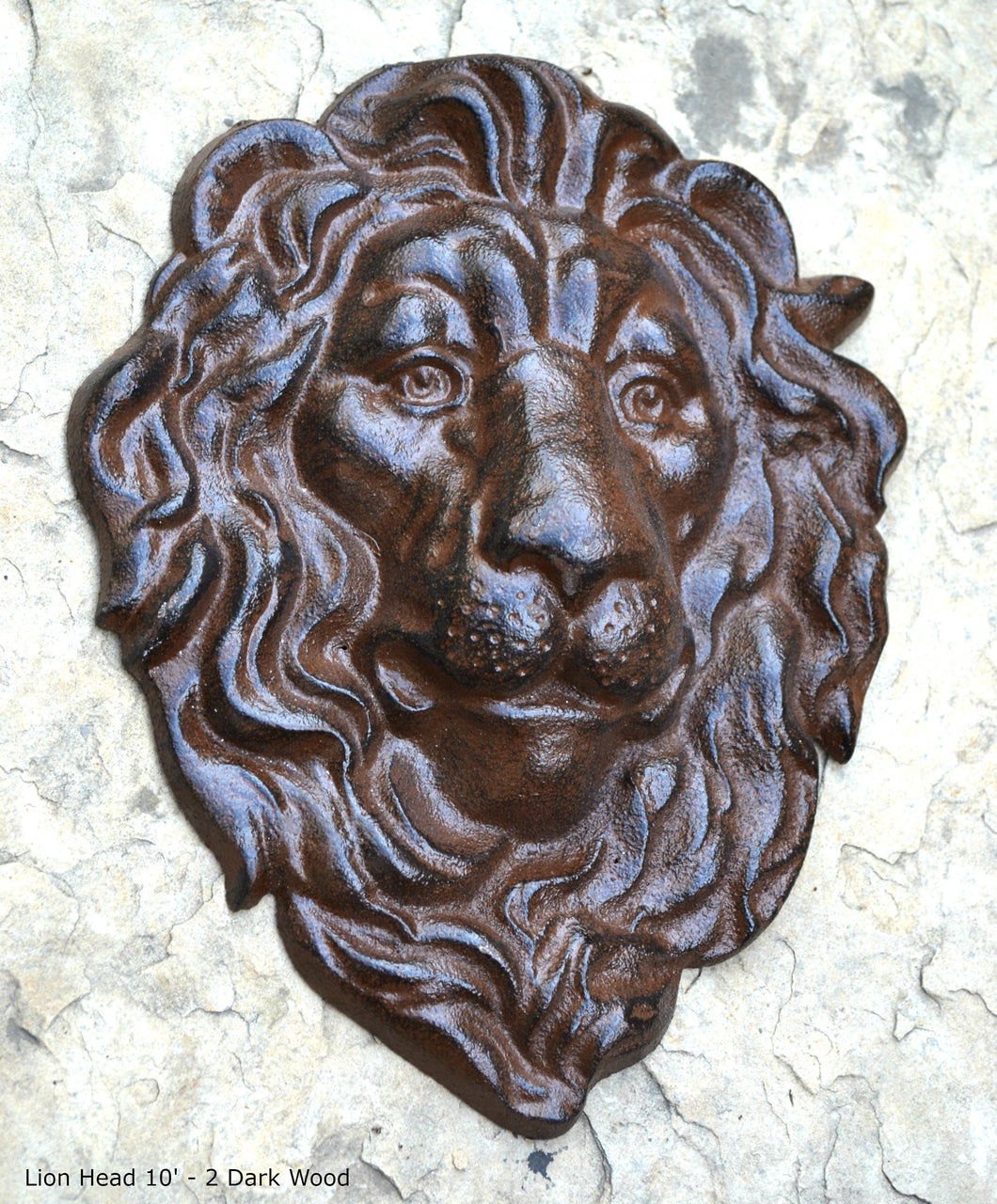 Animal LION Bust sculpture wall Plaque www.Neo-Mfg.com 10""