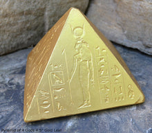 "Load image into Gallery viewer, Egyptian Pyramid of 4 Gods 4.5"" Tall sculpture www.Neo-Mfg.com home decor art"