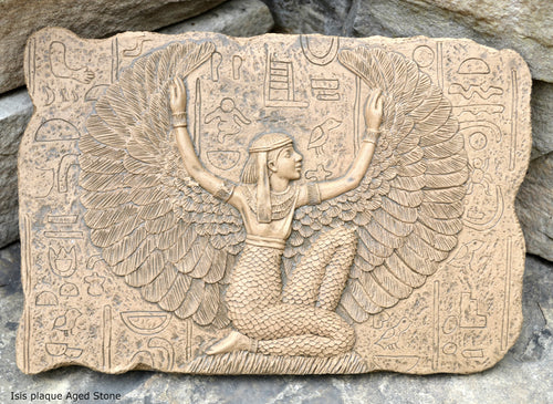 "Egyptian Isis Figure wall Sculpture Statue  plaque www.Neo-Mfg.com 11.5"" home decor"
