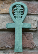 "Load image into Gallery viewer, History Egyptian Ankh Artifact  Sculpture Statue 9"" Tall www.Neo-Mfg.com wall plaque museum replica"